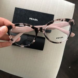 Prada Eyeglasses in Tortoise and Pink ROJ101 52